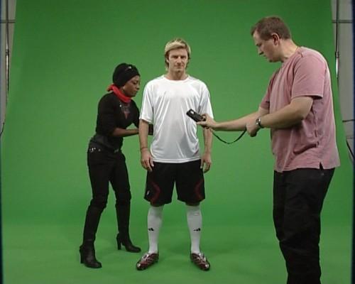 David Beckham Green Screen
